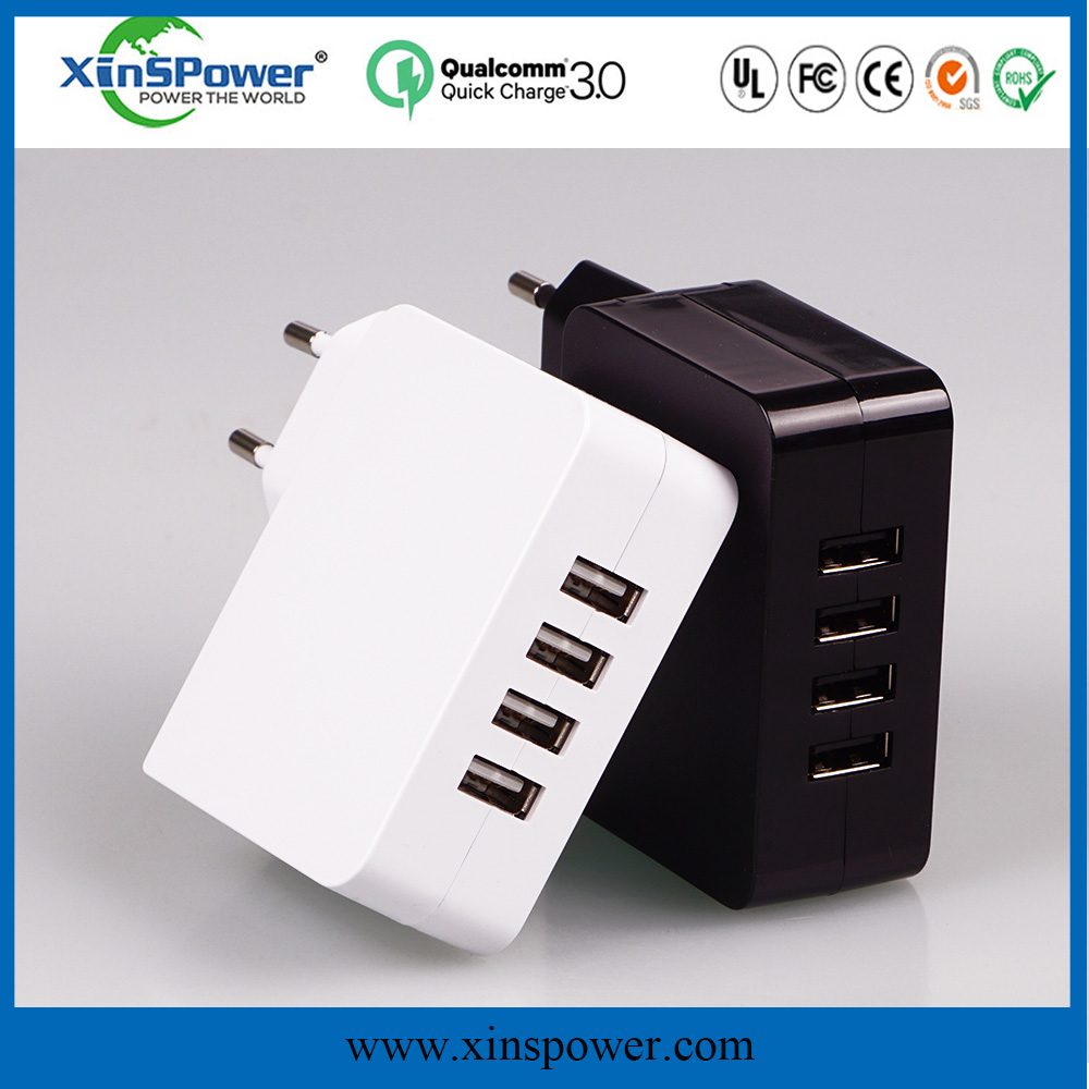 KCC approved solar battery charger 5V 4.9A 25W usb charger with cable 4 USB Charger
