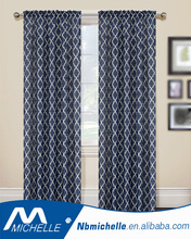 Fancy design Jacquard panel rods curtain cheap curtain fabric