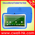 7 Inch Quad Core Lovely Android Educational Kids Tablet PC 2500mAh Battery