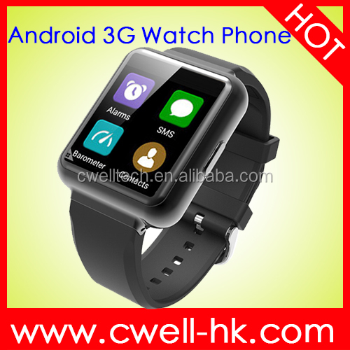 New 1.54 Inch support WiFi & GPS Metal Body Quad Core Smart watch phone