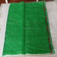 wholesale 50X 80 cm big red pp pe raschel onion mesh bag for packing potato fruit vegetable firewood with drawstring