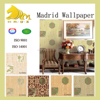 2015 chinese classcal style vinyl wallpaper with bamboo pattern for living room