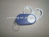 plastic keychain magnifier/LED folding pocket magnifying glasses with double magnifier lens