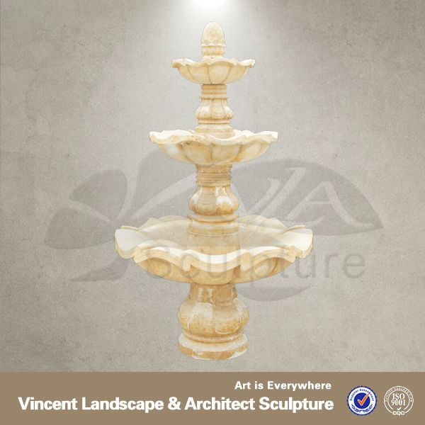 Decorative Hand Carved Wall Mounted Water Fountain VSF-N051T