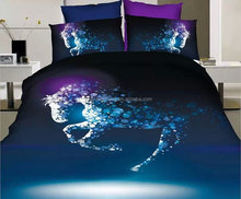 microfiber animal 3d horse bedding set for teenagers