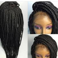 Wholesale qingdao african micro braided lace wigs for black women