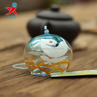 Japan glass wind bell with animal decal