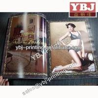 high quality fashion coated paper magazine printing