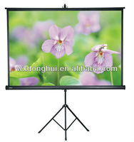 Elegant And Strong Support Tripod Projection Screen