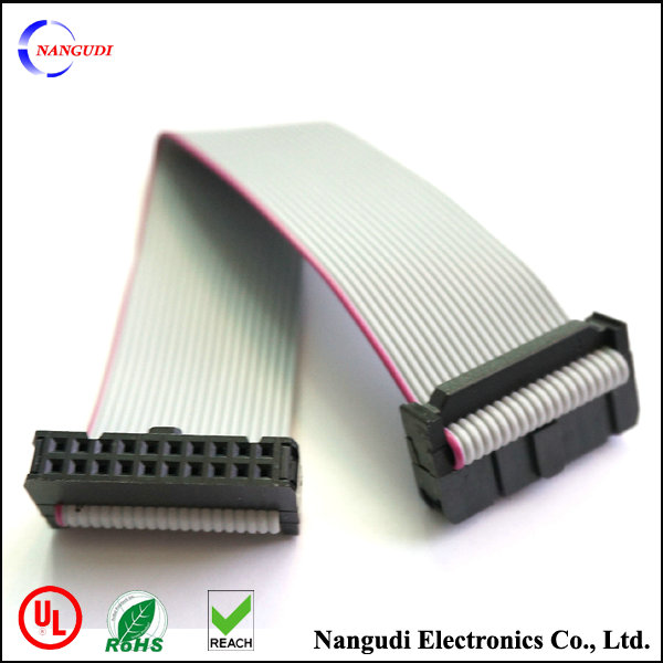 20 Pin Flat Ribbon Cable : Pin pitch idc connector ul awg mm ribbon