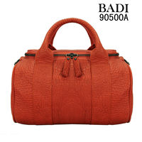 2013 orange tote cow leather handbags fashion gun metal zippers latest hand bags