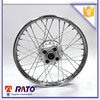 Good performance spoke type motorcycle steel rim wheel