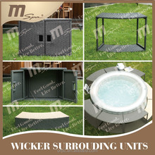 Outdoor wicker surrouding units Hot Tub / spa pool accessory