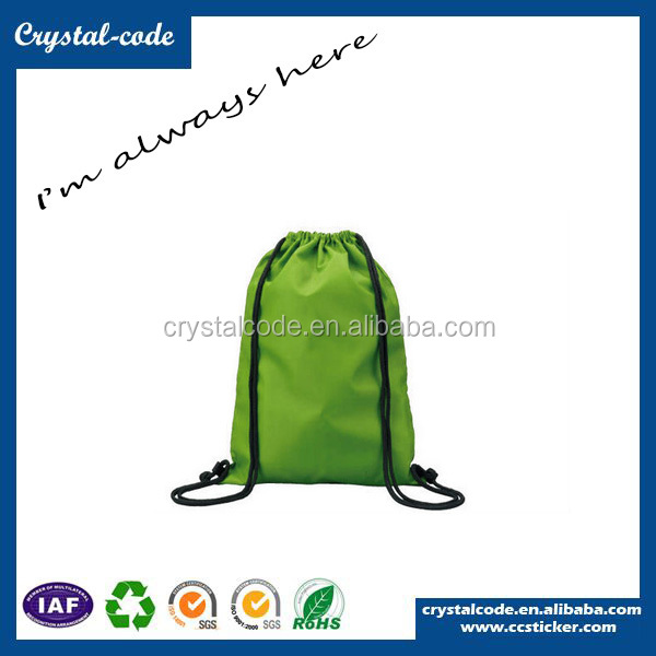Popular Washable Promotional Nylon Polyester Drawstring Bag