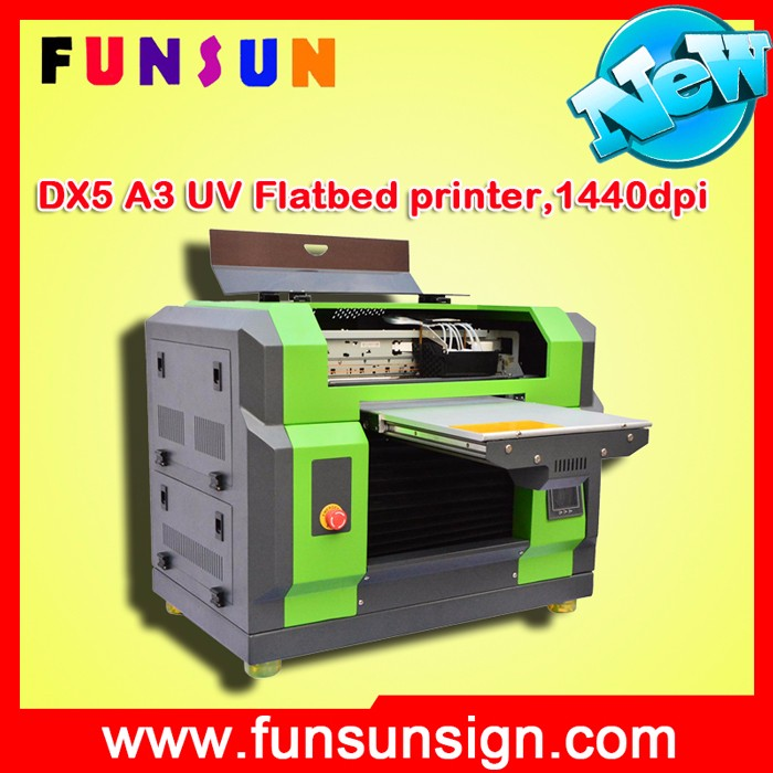 Funsunjet A3 SIZE DX5 head Nameplate printing machine UV printer