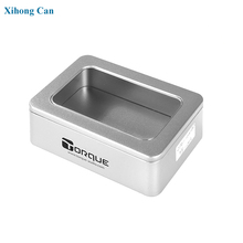 rectangular window hinged metal tins manufacture