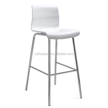 2017 high end promotion barstools Cafe Bar Tall Chair high Stool White