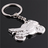Motorcycle Key Ring Chain Motor Silver Keychain Cute Lover Gift