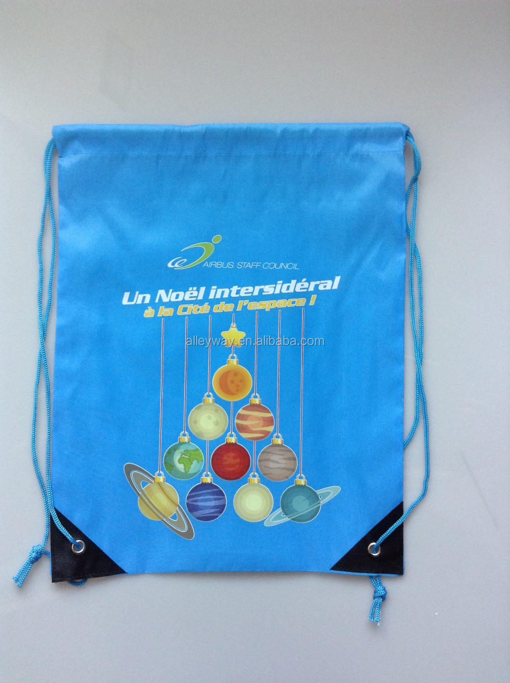 Transfer printing nylon drawstring bag