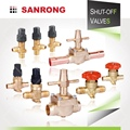 Sanrong Air Conditioner Threaded Shut Off Valve, Welded Brass Stop Valve, Two Way Refrigeration Valve