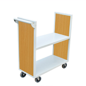 Library Furniture Steel Book Trolley/book Cart/moving Bookcase