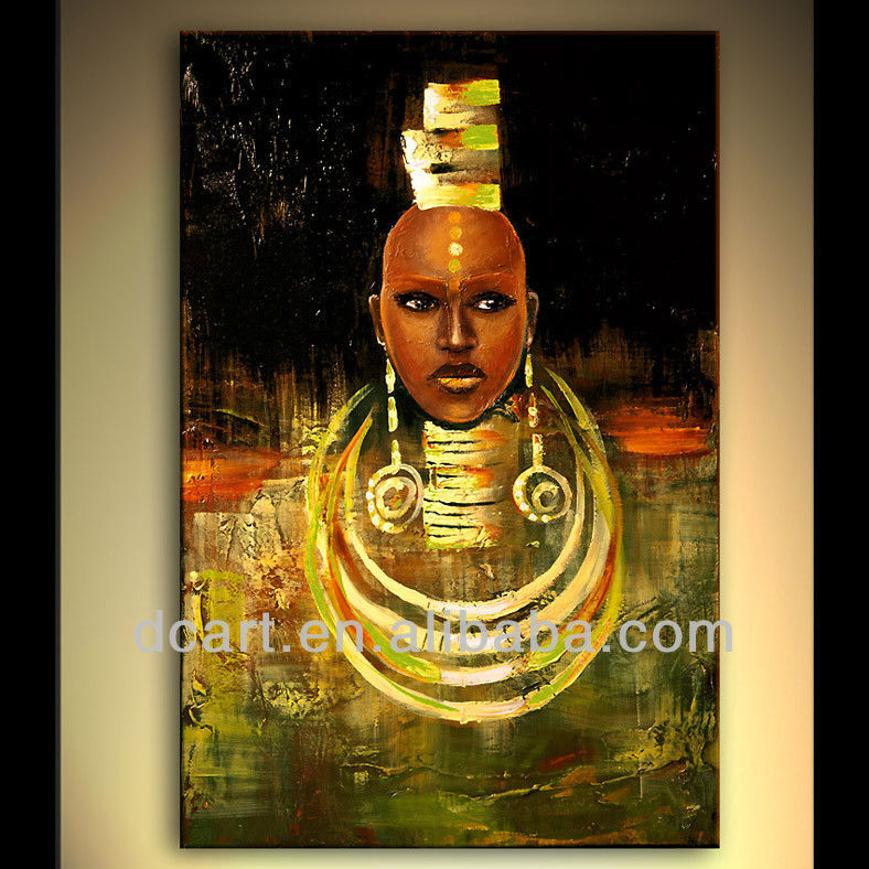 modern style african women oil painting