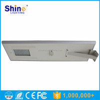 80W Hot sale Waterproof IP66 Factory price all in one led solar street lights / integrated garden motion sensor lamp