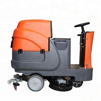 RD660 dual brushes battery powered ride on floor scrubber with big tank