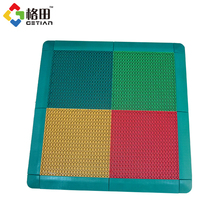 Quality guarantee interlocking pp material sports flooring for basketball court,half court tile for basketball