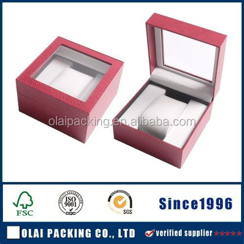 Newest gift box,fashion paper watch packaging,custom-made paper watch box with PVC window