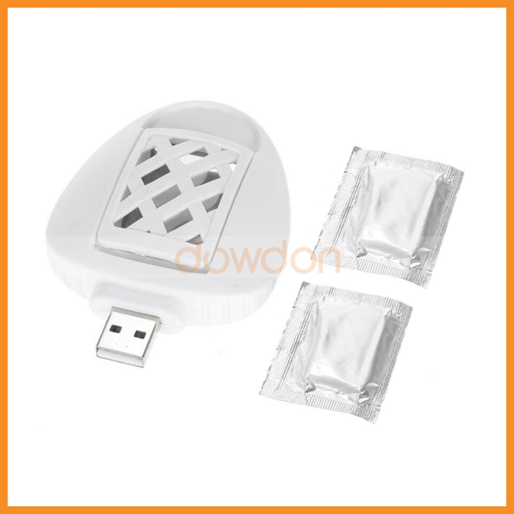 Eco Friendly USB Electric Mosquito Killer Repeller Car Travel Repellent with 2 Refills