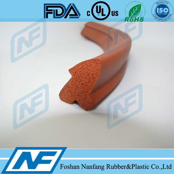 silicone foam profile weather rubber chamfer strip