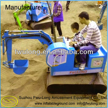 Shopping mall kids excavators amusement ride toy construction equipment