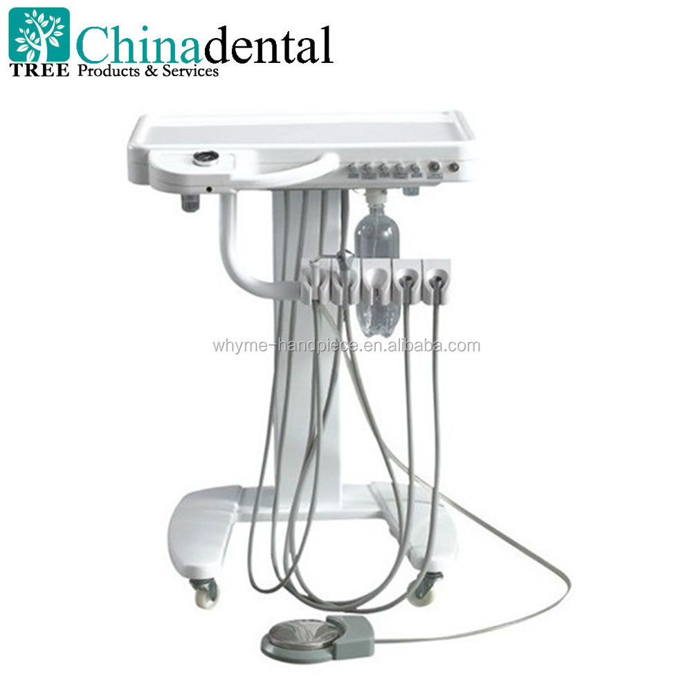 Portable Self Delivery mobile dental unit cart with 3 Way Syringe