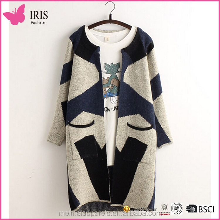 Woman hollow-out knitted women cardigan for spring
