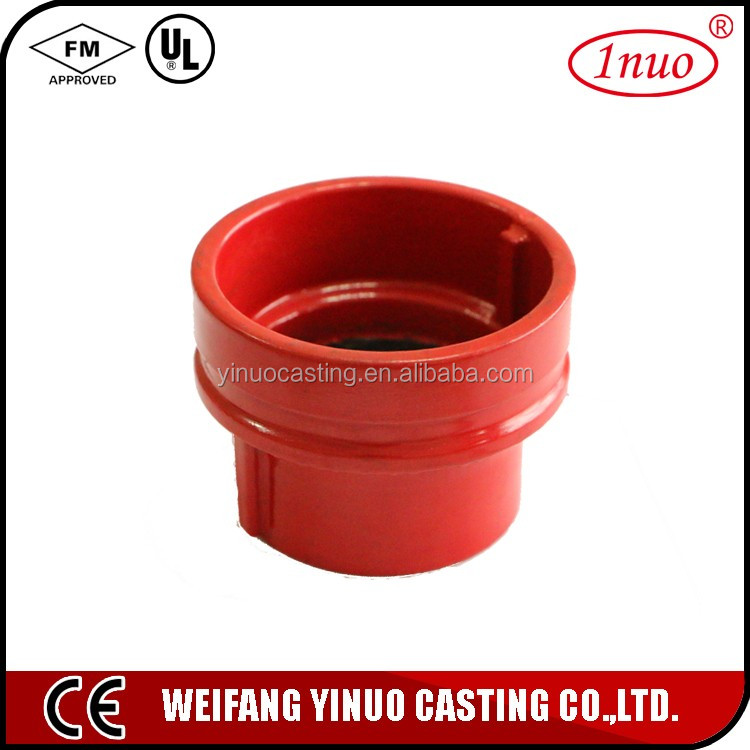 FM/ UL Ductile Iron groove reducer pipe fittings