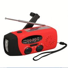 Radio with emergency lamp sfy fm am wb solar radio with power bank
