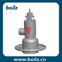 Forging steel high angle ring spring diaphragm actuated pressure regulator