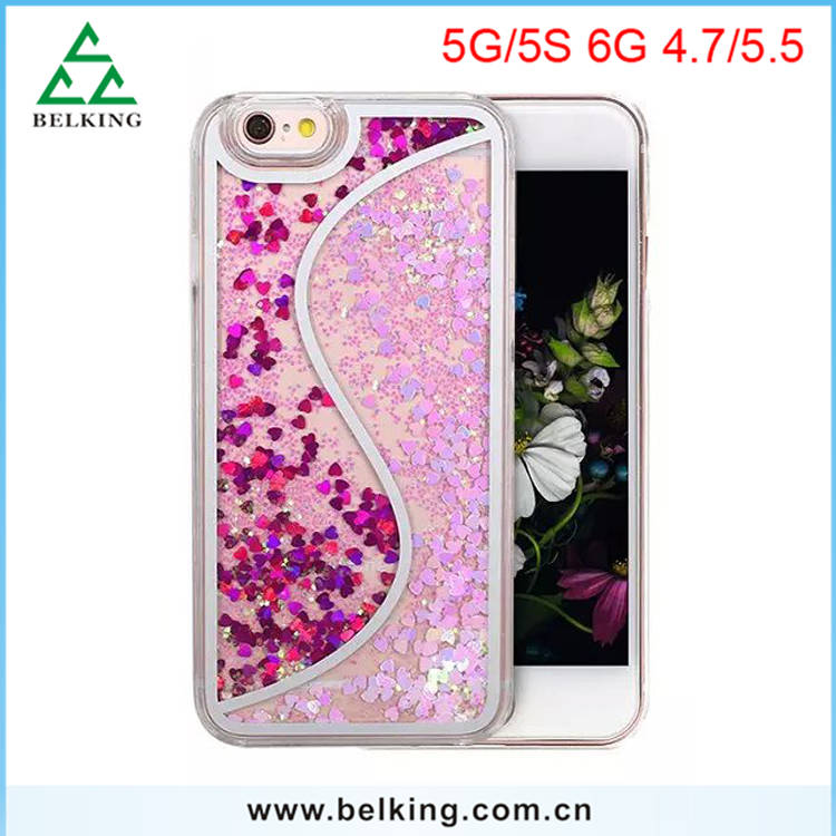 Factory Price!!! Dual Bling Stars Hybrid Cell Phone Cover For iPhone 6 Newest PC Case