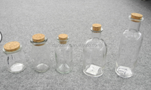 Clear glass spice jar with cork for oil sauce vinegar