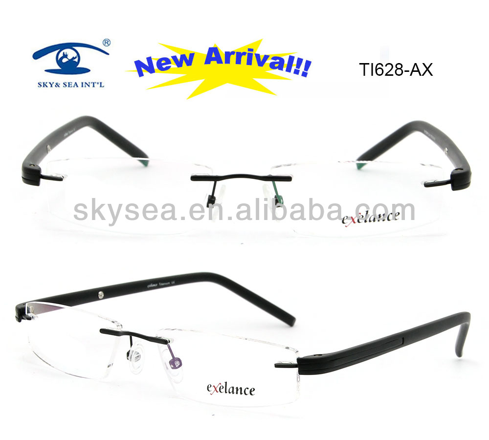 2013 most popular Mens Titanium Naturally Rimless Eyeglass Frames