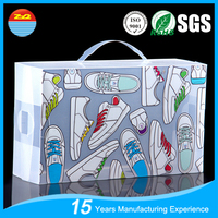 Customized Printing PP PET PVC Plastic shoes Packaging Boxes