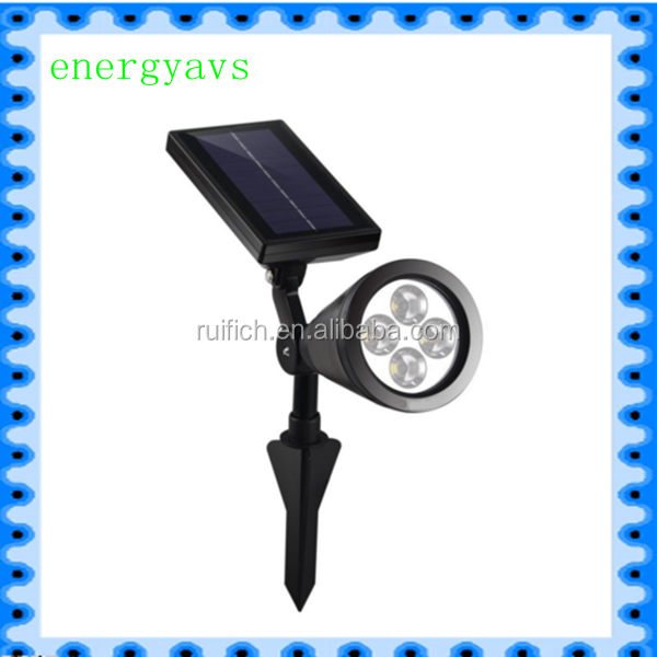 Weatherproof Solar Energy Powered LED Spotlight Available for Outdoor Garden Pool Pond Spot Lamp Light - Dusk to Dawn Dark Auto