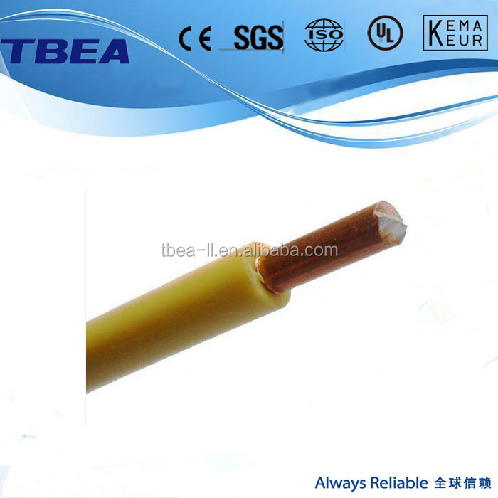 1.5mm 2.5mm 4mm 6mm 10mm 16mm 25mm PVC insulated copper electric cable wire