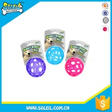 Latest Design Wobbly Ball Dog Chewing Toy Play-N-Treat Flexible Non-Toxic TPR Pet Toy