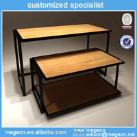 floor units wood garment display stand