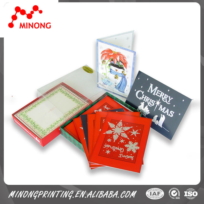 Good quality good reputation best sales paper boxed christmas cards