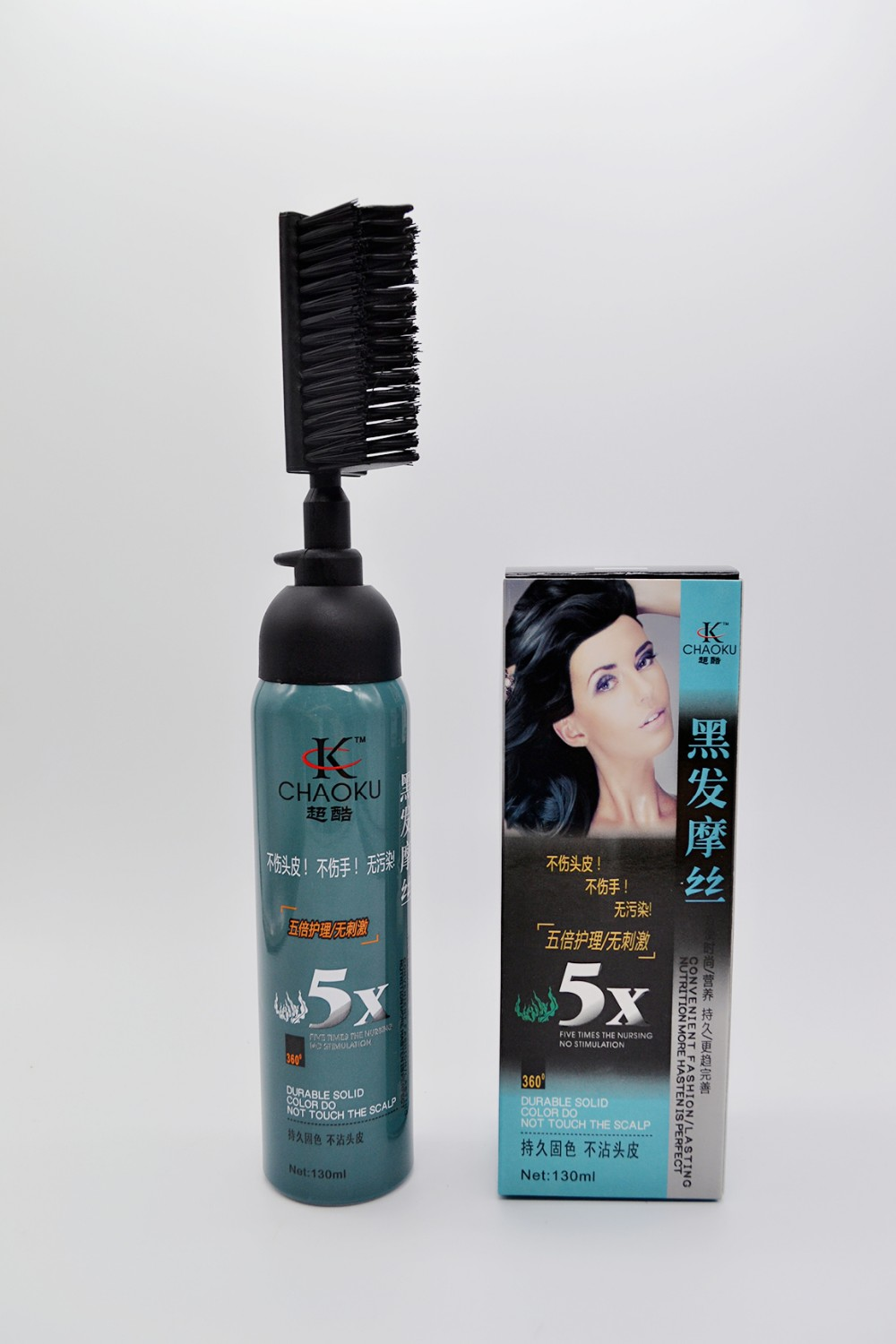Semipermanent black henna hair dye / the black magic combs hair dye