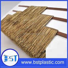 fireproof plastic man made house roof decoration palm leaf thatch