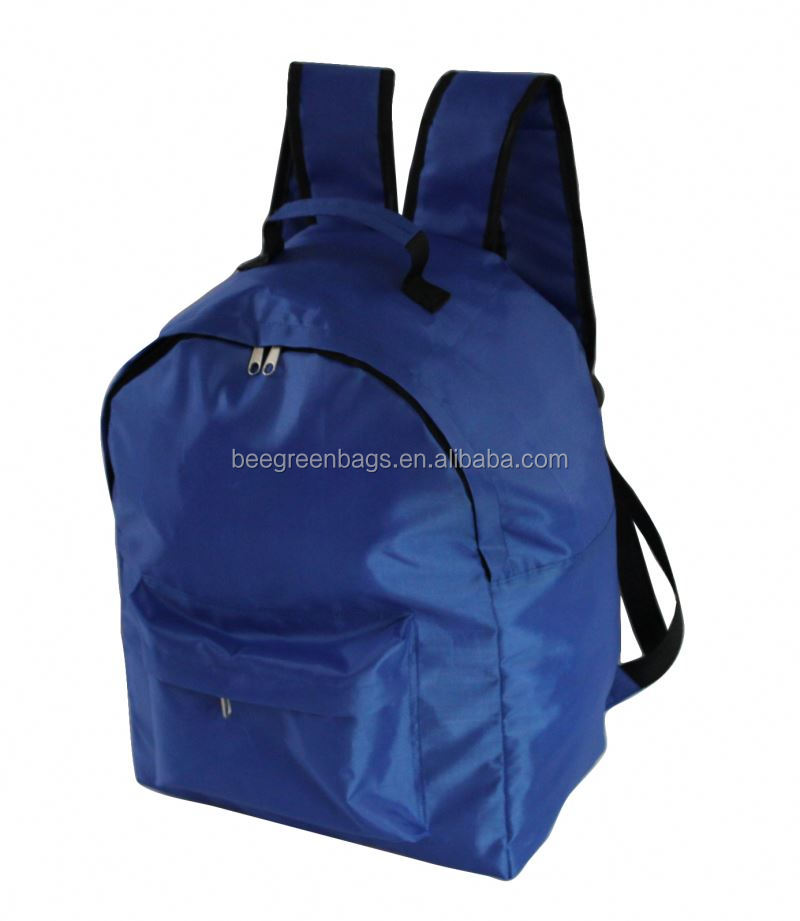 BeeGreen Popular 210D polyester backpack for kids school bags blue